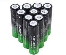 18650 Batteries 5800mAh 3.7V Rechargeable Batteries-1