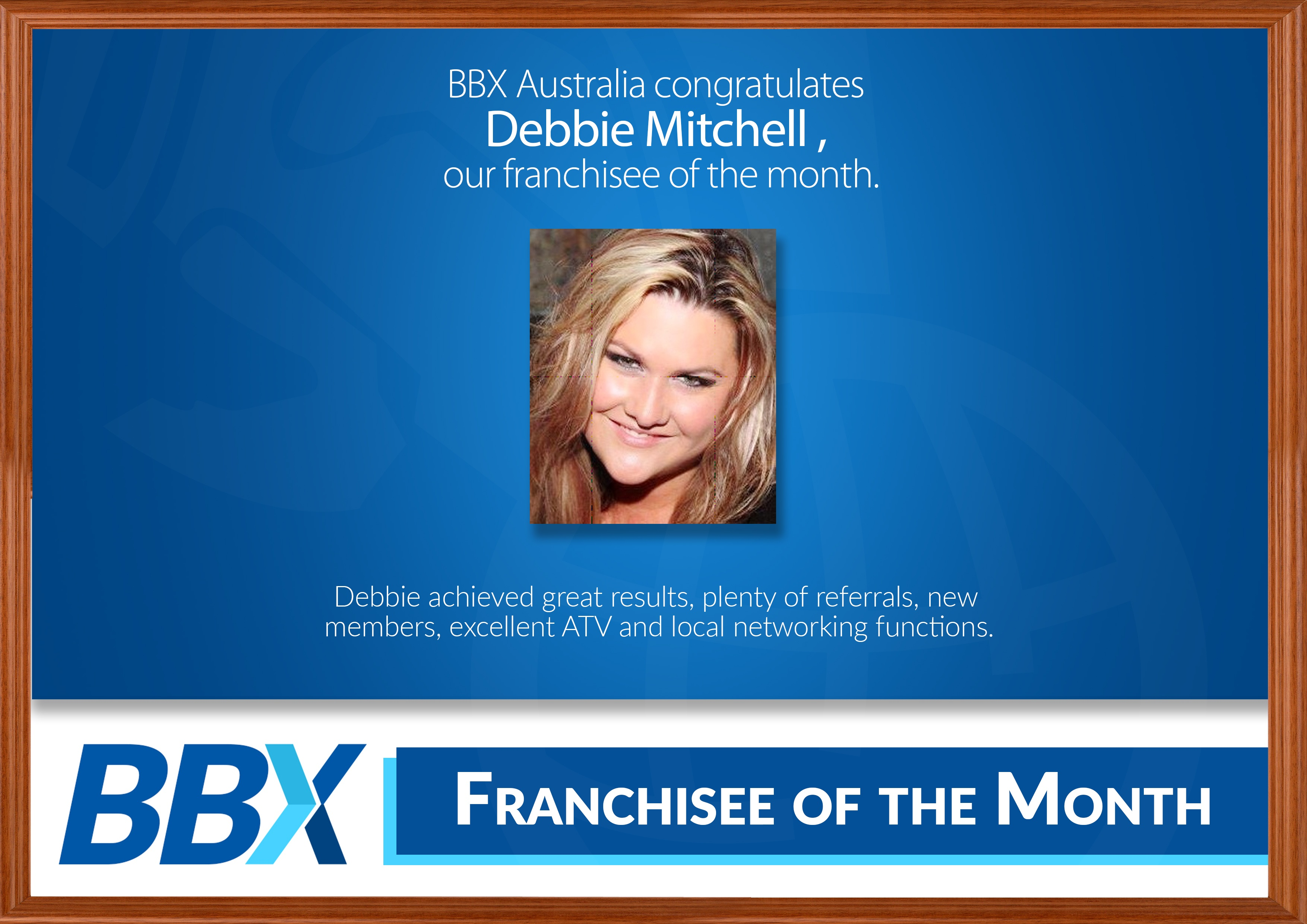 FRANCHISE OF THE MONTH debbie.jpg