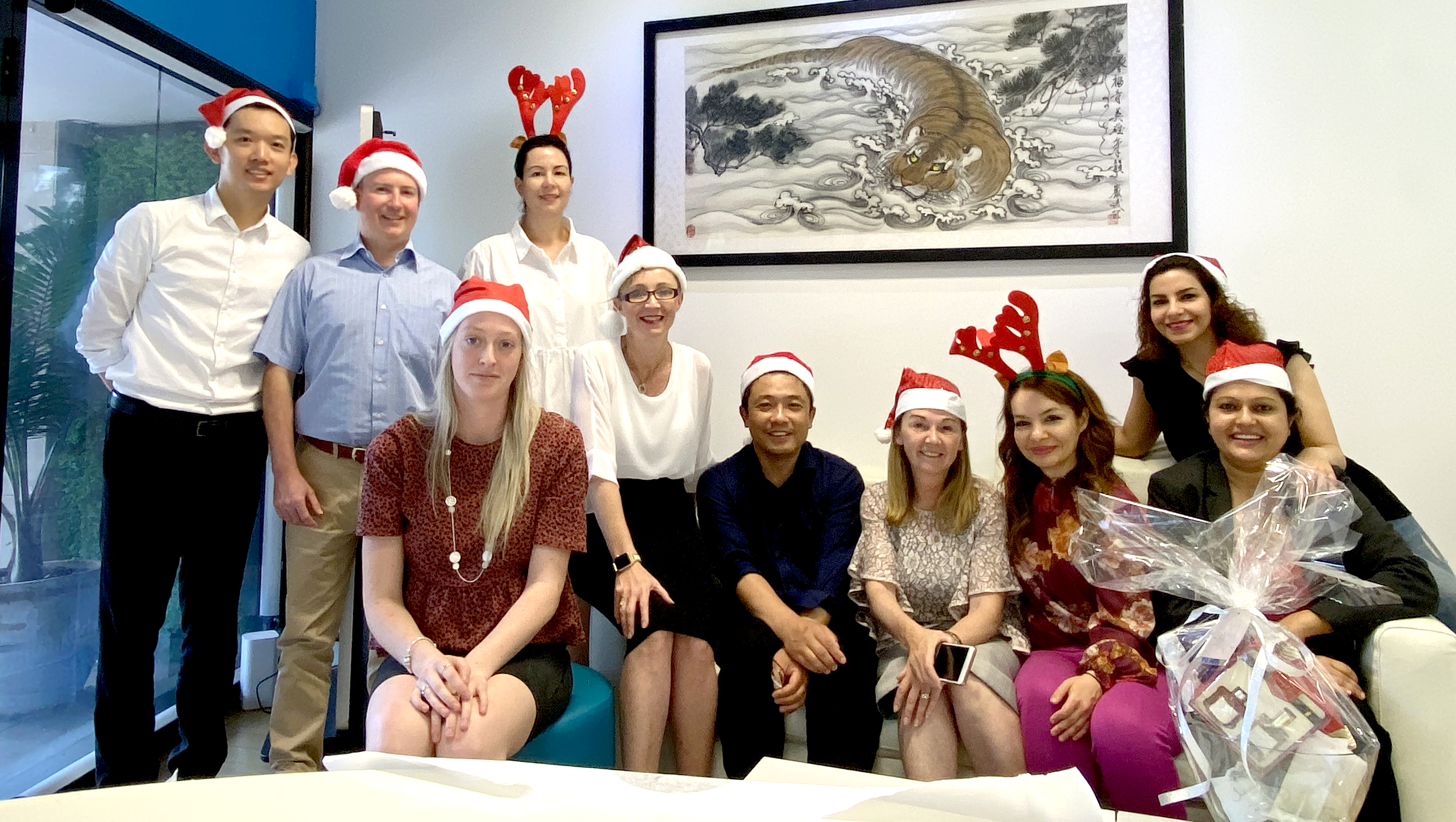christmas photo - sydney team