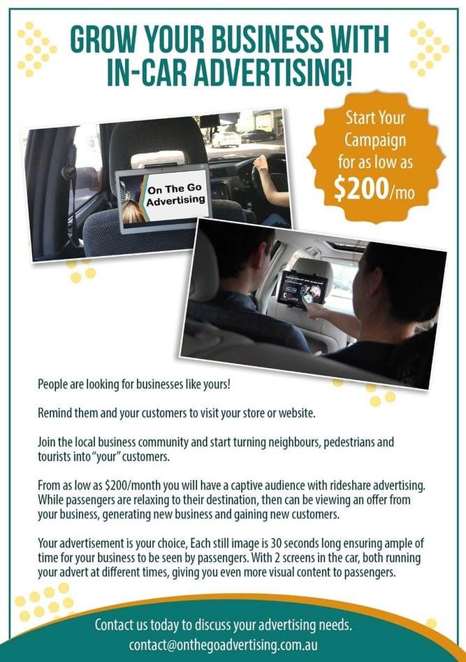 in car advertising